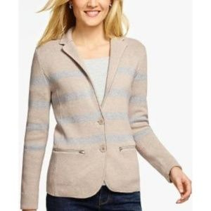 Talbots Sweater Blazer Preppy Stripe